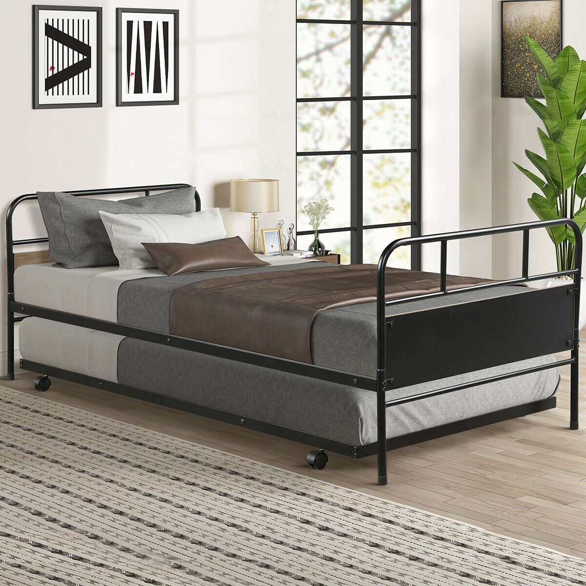 Image of Twin Daybed &Trundle Frame Set Premium Steel
