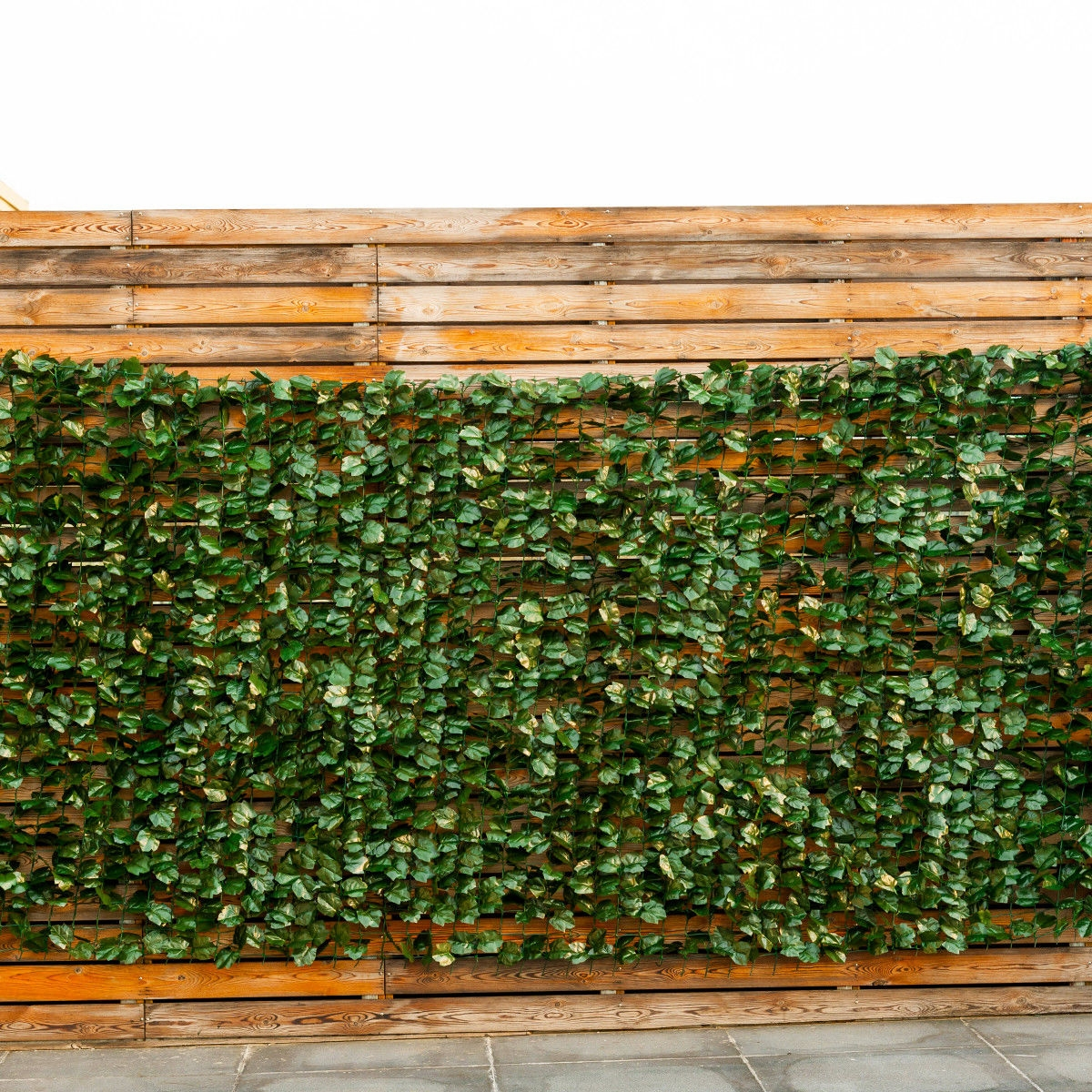 Image of Faux Ivy Leaf Decorative Privacy Fence