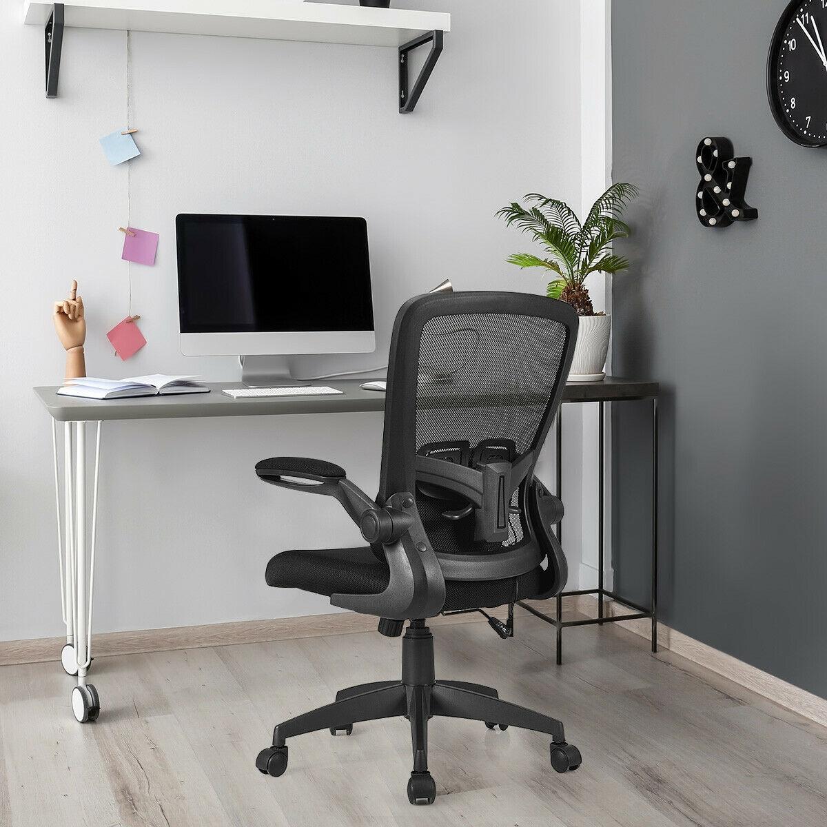 Image of Ergonomic Desk Chair with Flip up Armrest