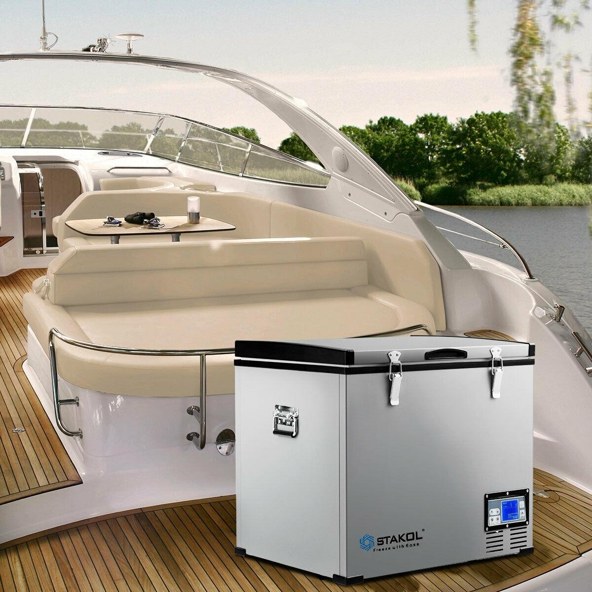 Image of 63-Quart Portable Compressor Camping Electric Car Cooler