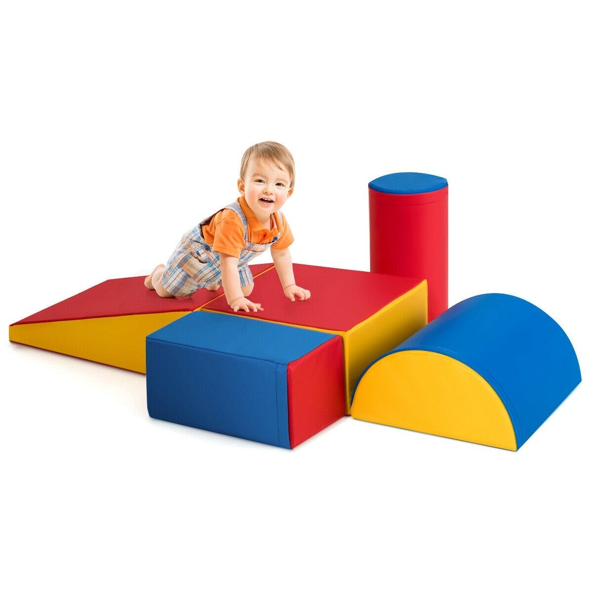 Image of 5-Piece Set Climb Activity Play Safe Foam Blocks