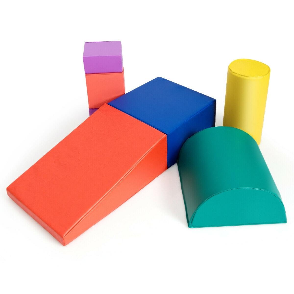 Image of 6 Piece Climb Crawl Play Set Indoor Kids Toddler