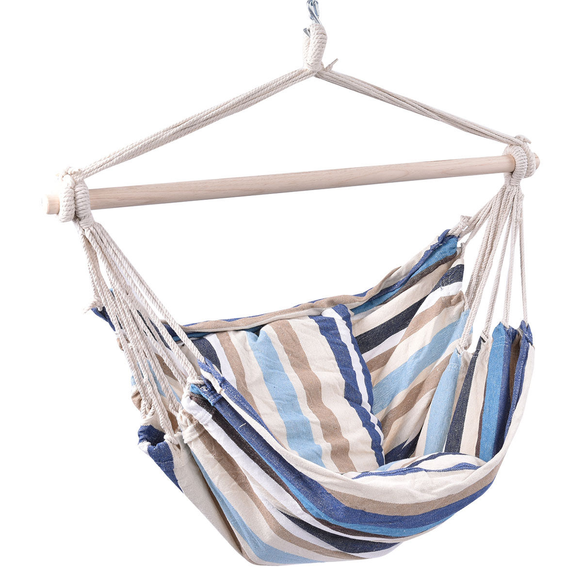 Image of Outdoor Porch Yard Deluxe Hammock Rope Chair