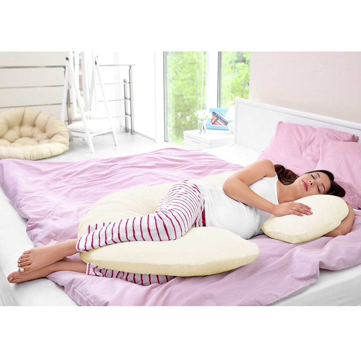 Image of C Shape Total Body Pillow for Expectant Mothers