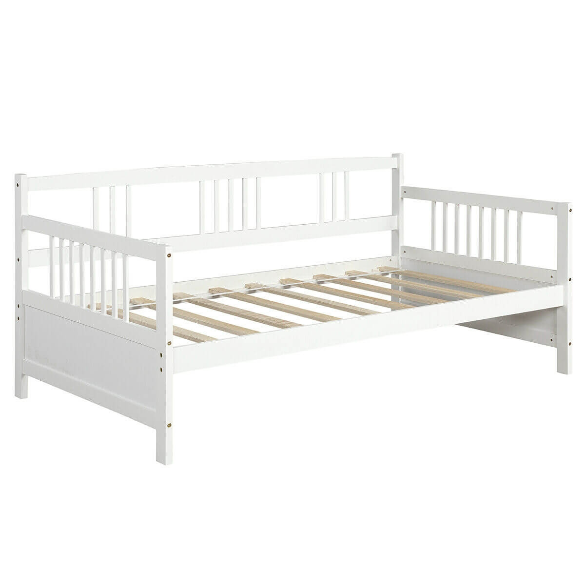 Image of Twin Size Wooden Slats Daybed Bed with Rails