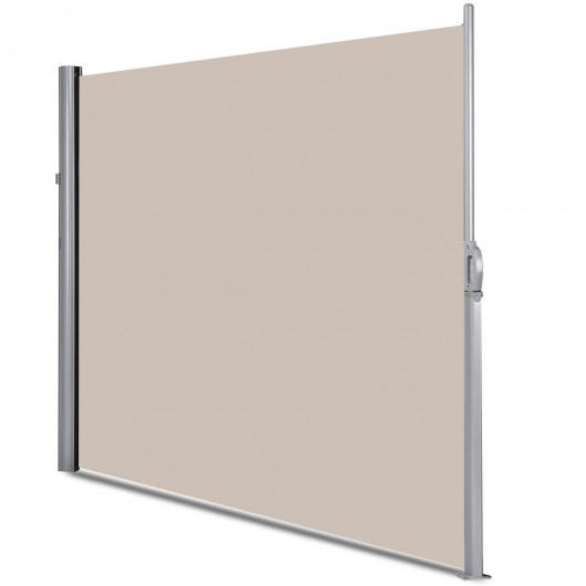 """118.5"""" x 71"""" Patio Retractable Folding Side Awning Screen ..."""