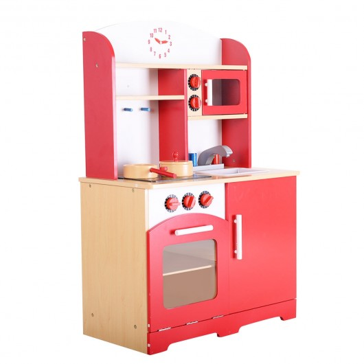 Kids Cooking Pretend Play Toy Kitchen Set Toy Kitchens Play