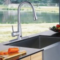 Pull-down Single Handle Dual Spray Chrome Kitchen Faucet