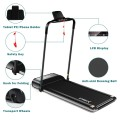 Ultra-thin Electric Folding Motorized Treadmill with LCD Monitor Low Noise