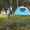 3 Person Inflatable Camping Waterproof Tent w/ Bag And Pump