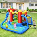 Inflatable Bounce House Splash Pool with Water Climb Slide Blower Included