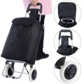 Folding Light Weight Wheeled Shopping Trolley Cart with Large Capacity