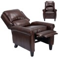 Brown Accent Chair Recliner with Leg Rest