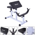 Biceps Trainer Seated Arm Barbell Curl Weight Bench