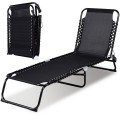 Foldable Camping Patio Chaise Lounge Chair