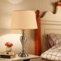 """15"""" Antique Brass Table Lamp with LED Bulb"""