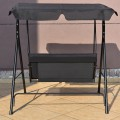 Love Seat Swing with Patio Canopy