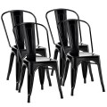 Set of 4 Tolix Style Dining Chair Stackable Bistro Chair