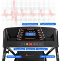 1.0 hp Foldable Treadmill Electric Support Mobile Power