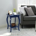 Set of 2 Accent Side Tables with Shelf