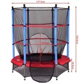 """55"""" Kids Jumping Trampoline with Safety Pad Enclosure Combo"""