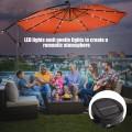 "10""  Patio Hanging Solar LED Umbrella Sun Shade with Cross Base"