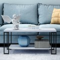 Accent Cocktail Table Coffee Table with Storage Shelf
