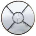 Patio Steel Round Table with Umbrella Holes for Outdoor