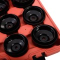 30PCS Cup Type Oil Filter Cap Wrench Socket Removal Tool Set W/case New