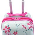 """2 pcs 12"""" 16"""" Green ABS Kids Suitcase Backpack Luggage Set"""