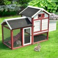 """60"""" Rabbit Bunny Hutch House with Black Roof"""