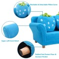 Blue/Pink Kids Strawberry Armrest Chair Sofa