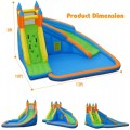 Inflatable Mighty Bounce House Jumper with Water Slide without Blower