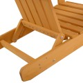 Outdoor Adirondack Chair with Ottoman
