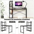 4 Tier Storage Shelves Computer Desk