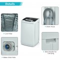 8.8 lbs Portable Full-Automatic Laundry Washing Machine with Drain Pump