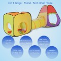 3 In 1 Folding Pop Up Kids Play Tent Tunnel