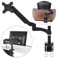 """Single Arm TV LCD Monitor Desk Mount Stand Bracket Swivel Gas Spring up to 27"""""""