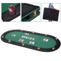 """79"""" x 36"""" 8 Players Texas Holdem Foldable Poker Table Top"""