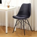 Set of 2 Upholstered Armless Dining Chair with Padded Seat