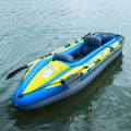 Goplus 2-Person Inflatable Canoe Boat Kayak Set with Oar and Hand Pump