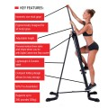 Folding Vertical Climber Machine with Adjustable Height
