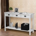 """47"""" Stand Hall Side Console Table with Drawers"""