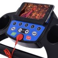 Electric Foldable Treadmill with LCD Display and Heart Rate Sensor