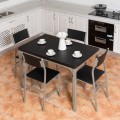 5 Piece Wood Metal  Dining Table & Chairs Set
