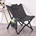 Folding Butterfly Solid Wooden Frame Chair Seat