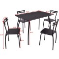 5 pcs Dining Table and Chair Set