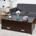 Sliding Top Trunk Coffee Table with Hidden Compartment & 2 Drawers