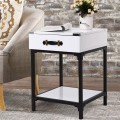 Modern Coffee End Table Side Table Nightstand with Drawer
