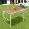 Aluminum Folding Picnic Camping Table with MDF Table Top
